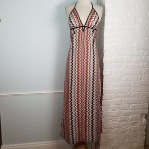 Boston Proper Chevron maxi dress